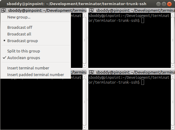 The Grouping Menu Terminator 10 Alpha Documentation